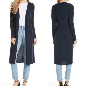 Autumn Cashmere Sweaters - Autumn Cashmere Long Maxi Cashmere Navy Cardigan